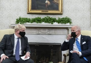 Approach to Russia and China to be based on common values — Johnson and Biden